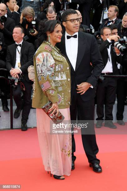 Isabel dos Santos and Sindika Dokolo attends the screening of BlacKkKlansman during the 71st annual Cannes Film Festival at Palais des Festivals on...