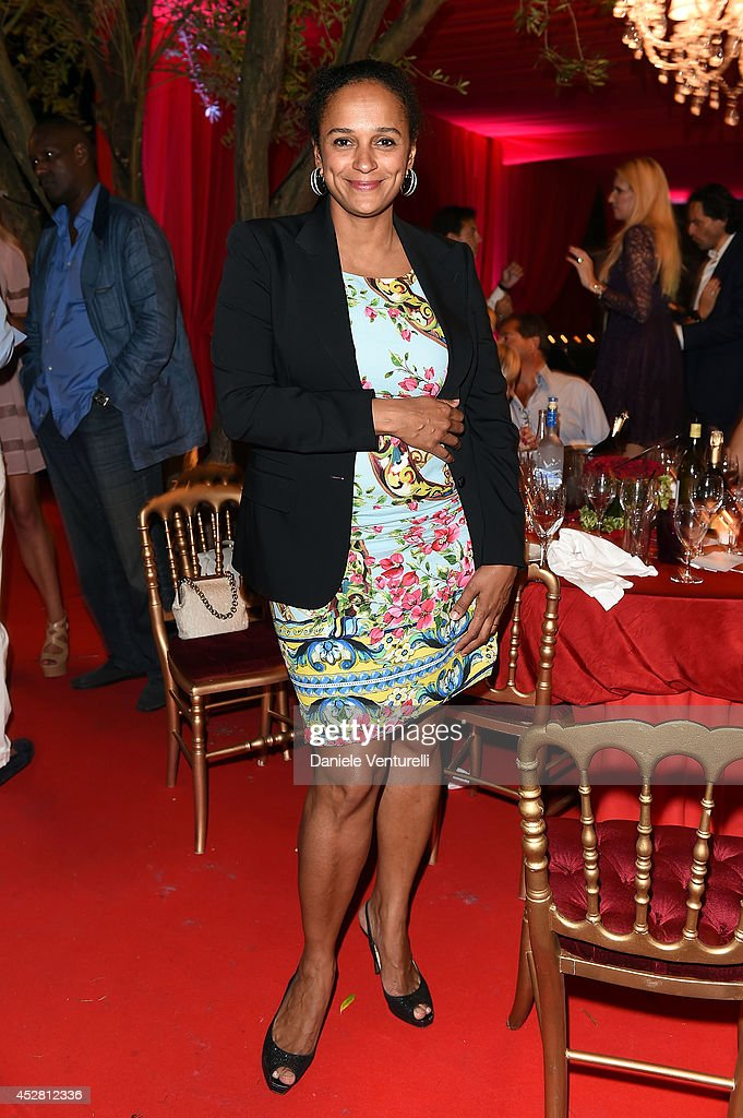 Isabel Dos Santos attends Monika Bacardi Summer Party 2014 St Tropez at Les Moulins de Ramatuelle on July 27, 2014 in Saint-Tropez, France.