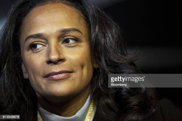 Isabel dos Santos billionaire and former chairman of Sonangol HoldingSociedade Nacional de Combustiveis de Angola EP attends the inauguration of...