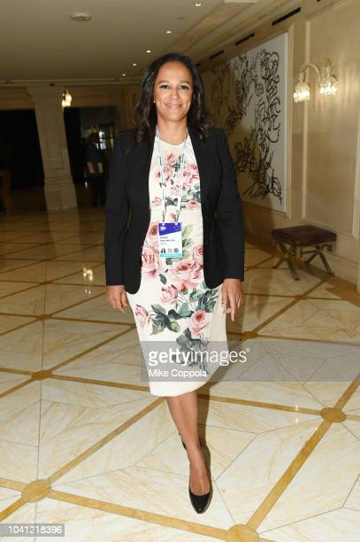 Isabel dos Santos poses before a roundtable discussion on Business Evolution In Energy at Bloomberg Global Business Forum at The Plaza Hotel on...