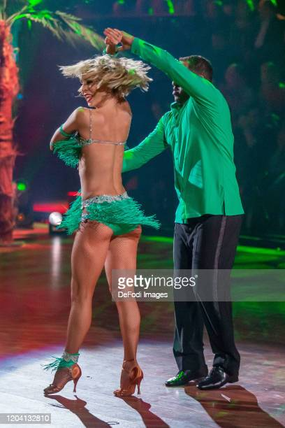 Isabel Edvardsson and Ailton looks on during the 1st show of the 13th season of the television competition Let's Dance on February 28 2020 in Cologne...
