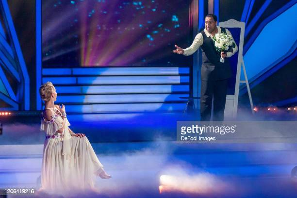 Isabel Edvardsson and Ailton looks on during the 2nd show of the 13th season of the television competition Let's Dance on March 6 2020 in Cologne...
