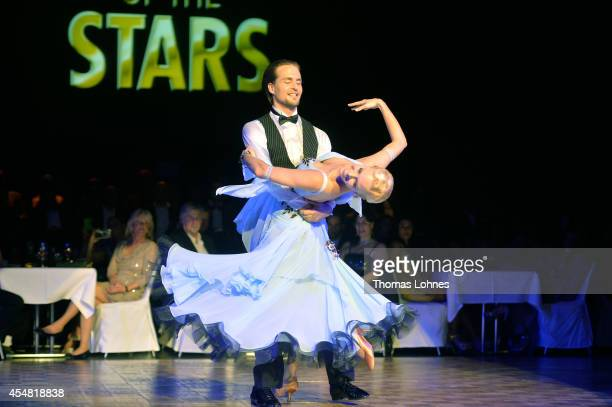 Isabel Edvardsson and Alexander Klaws attend the dance gala performance 'Night Of The Stars 2014' on September 6 2014 in Aschaffenburg Germany