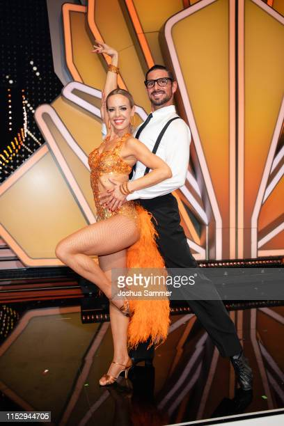 Isabel Edvardsson and Benjamin Piwko are seen during the 10th show of the 12th season of the television competition Let's Dance on May 31 2019 in...