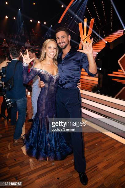 Isabel Edvardsson and Benjamin Piwko are seen during the 11th show of the 12th season of the television competition Let's Dance on June 07 2019 in...
