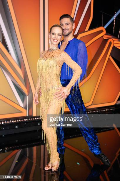 Isabel Edvardsson and Benjamin Piwko are seen during the 7th show of the 12th season of the television competition Let's Dance on May 10 2019 in...