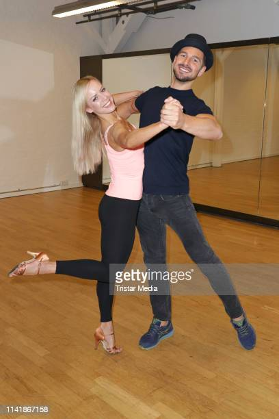 Isabel Edvardsson and Benjamin Piwko train for german RTL TV show 'Let's Dance' on May 7 2019 in Hamburg Germany