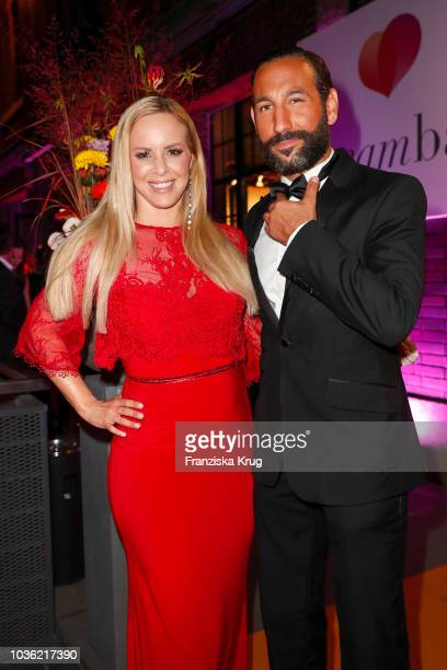 Isabel Edvardsson and Massimo Sinato attend the Dreamball 2018 at WECC Westhafen Event Convention Center on September 19 2018 in Berlin Germany