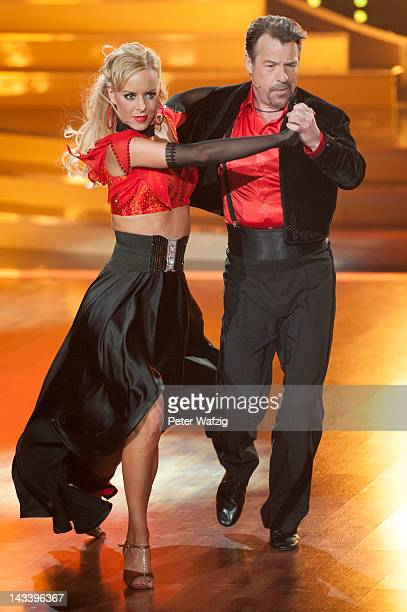 Isabel Edvardsson and Patrick Lindner perform during 'Let's Dance' 7th Show at Coloneum on April 25 2012 in Cologne Germany