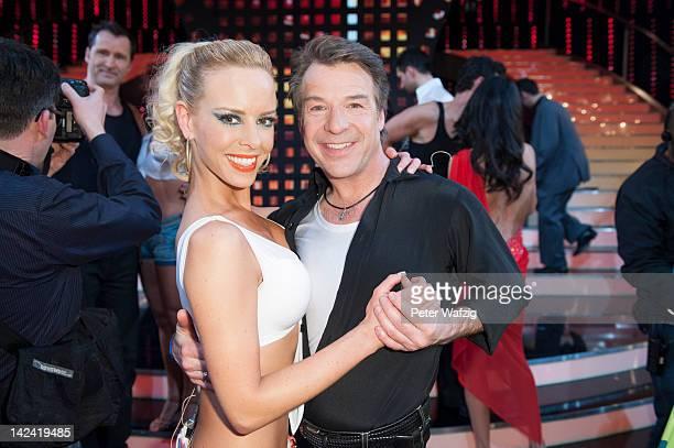 Isabel Edvardsson and Patrick Lindner posing for the photographers during the photocall of 'Let's Dance' 4th Show at Coloneum on April 04 2012 in...