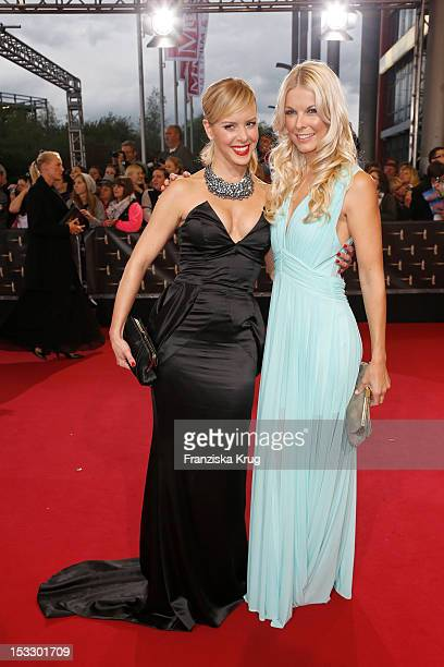 Isabel Edvardsson and Tina Kaiser attend the German TV Award 2012 at Coloneum on October 2 2012 in Cologne Germany