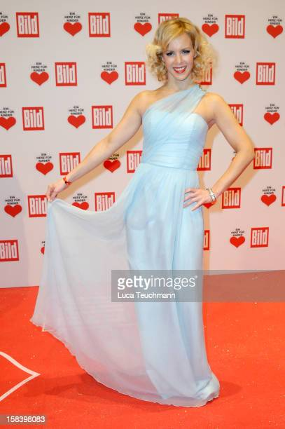 Isabel Edvardsson attends 'Ein Herz Fuer Kinder Gala 2012' Red Carpet Arrivals at Axel Springer Haus on December 15 2012 in Berlin Germany