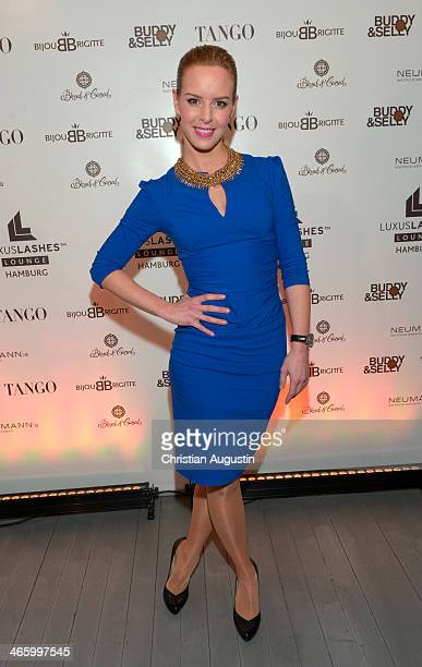 Isabel Edvardsson attends opening of the first LuxusLashes Lounge in Hamburg on January 30 2014 in Hamburg Germany