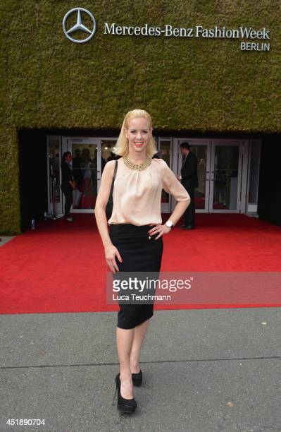 Isabel Edvardsson attends the Glaw show during the MercedesBenz Fashion Week Spring/Summer 2015 at Erika Hess Eisstadion on July 9 2014 in Berlin...