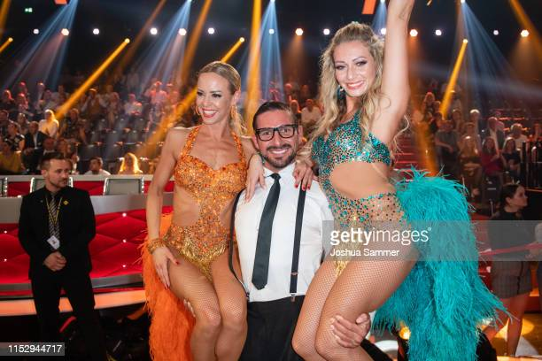 Isabel Edvardsson Benjamin Piwko and Regina Luca are seen during the 10th show of the 12th season of the television competition Let's Dance on May 31...