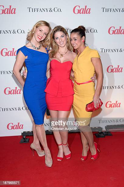 Isabel Edvardsson Christine Deck and Melissa OrtizGomez attend GALA event Where Diamonds meet Red Carpet at the restaurant The Bank on November 13...