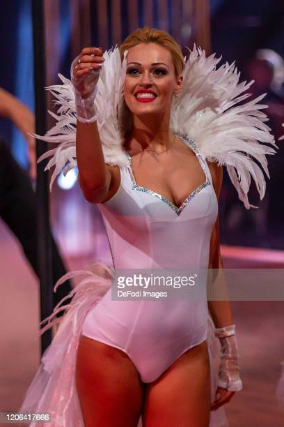 Isabel Edvardsson looks on during the 2nd show of the 13th season of the television competition Let's Dance on March 6 2020 in Cologne Germany