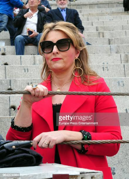 Isabel Flores attends San Isidro Fair at Las Ventas Bullring on May 30 2018 in Madrid Spain