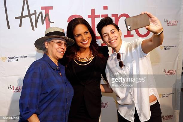 Isabel Frohman Soledad O'Brien and Denice Frohman attend Soledad O'Brien Hosts I Am Latino In America at El Museo De Barrio on June 6 2016 in New...