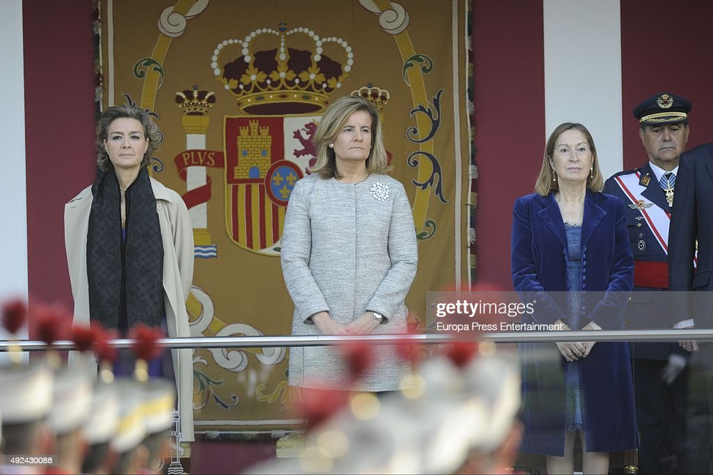 Spanish Royals Attend National Day Military Parade 2015 : News Photo