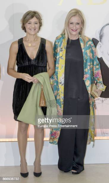 Isabel Garcia Tejerina and Cristina Cifuentes attend a dinner in honour of 'Mariano de Cavia' 'Mingote' and 'Luca de Tena' awards winners on October...