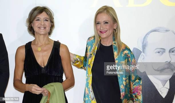 Isabel Garcia Tejerina and Cristina Cifuentes attend the 'Mariano de Cavia' 'Luca de Tena' and 'Mingote' Journalism awards dinner at Casa de ABC on...