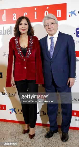 Isabel Gemio and Enrique Cerezo attend 'Estrellas por la Ciencia' gala at the Canal Theater on November 26 2018 in Madrid Spain