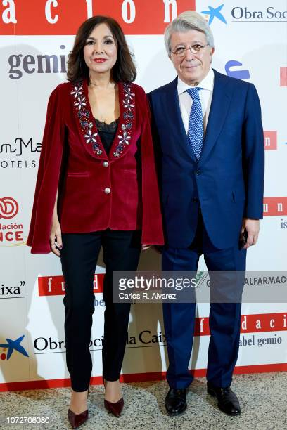 Isabel Gemio and Enrique Cerezo attend 'Estrellas por la Ciencia' gala at the Canal Theater on November 26 2018 in Madrid Spain