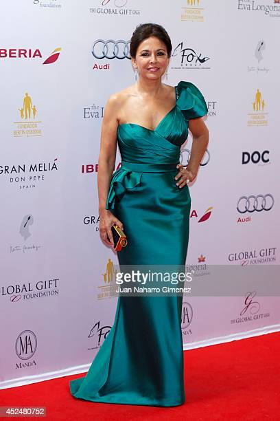 Isabel Gemio attends Global Gift Gala 2014 at Melia Don Pepe Hotel on July 20 2014 in Marbella Spain