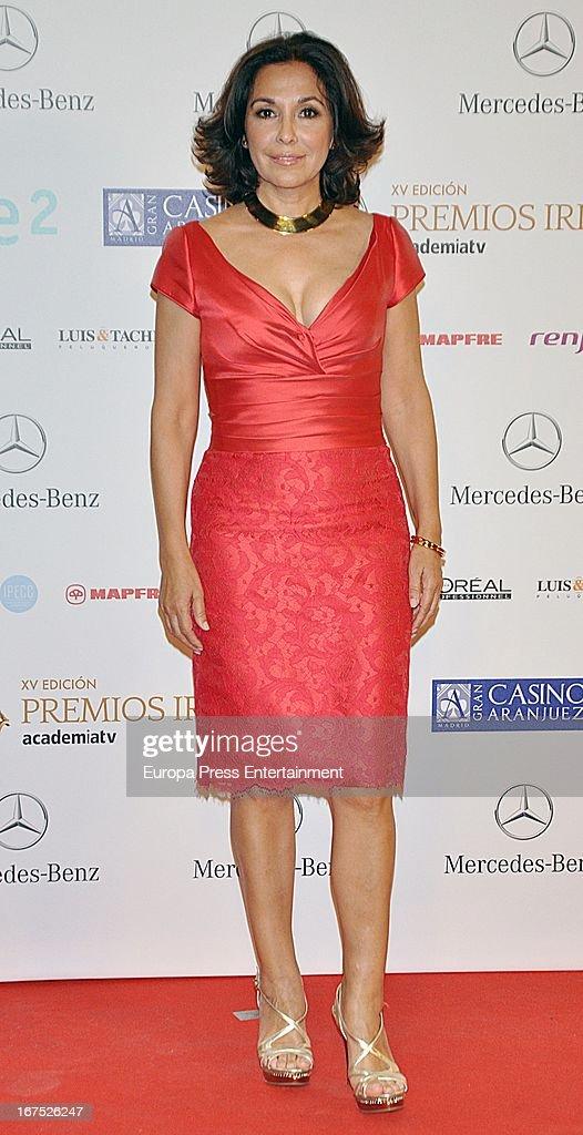 Isabel Gemio attends Iris Awards 2013 on April 25, 2013 in Madrid, Spain.