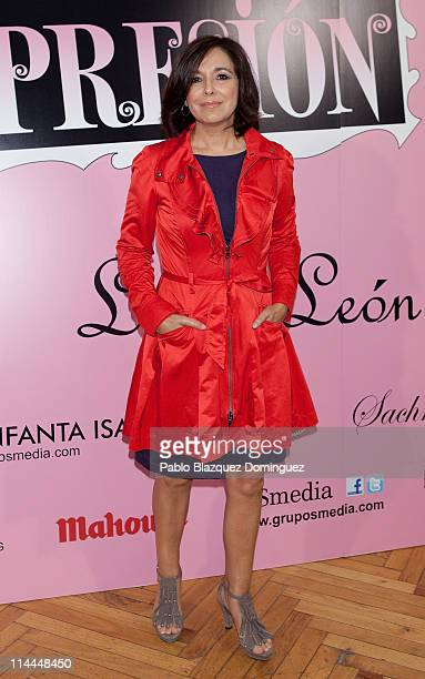 Isabel Gemio attends 'La Gran Depresion' premiere at Infanta Isabel Theatre on May 19 2011 in Madrid Spain