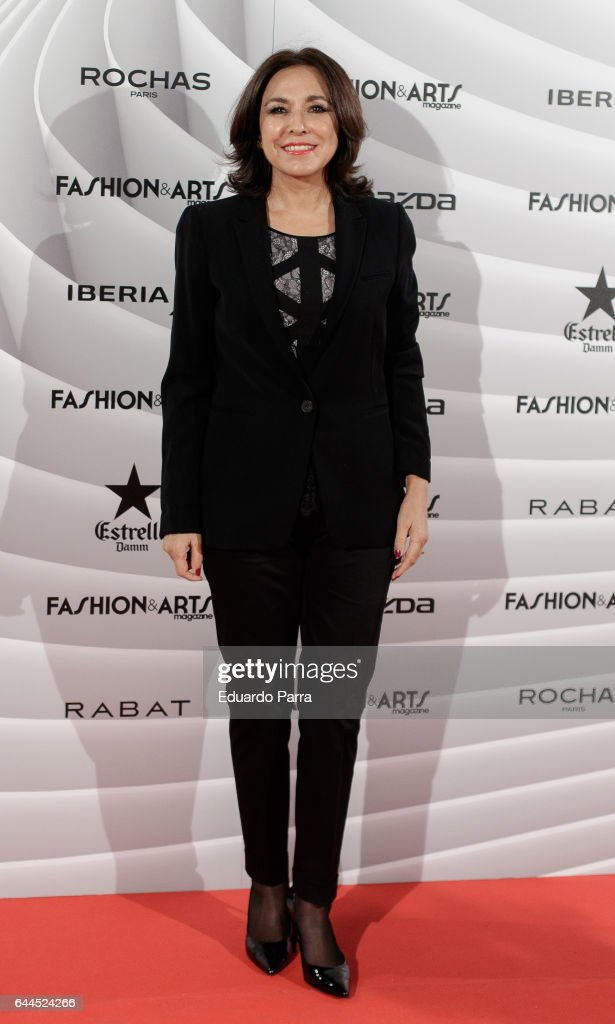 Isabel Gemio attends the 'Fashion & arts' photocall at Reina Sofia museum on February 23, 2017 in Madrid, Spain.
