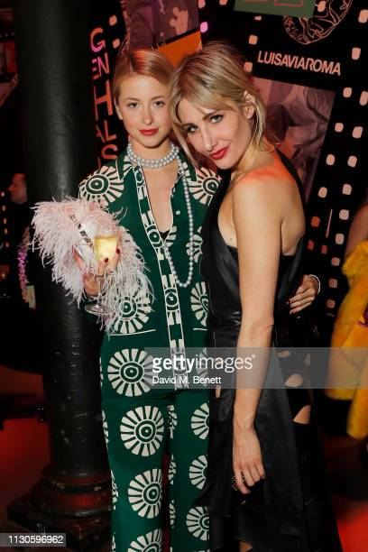 Isabel Getty and Adela King attends Naked Heart Foundation's Fund Fair with LuisaViaRoma at The Roundhouse on February 18 2019 in London England