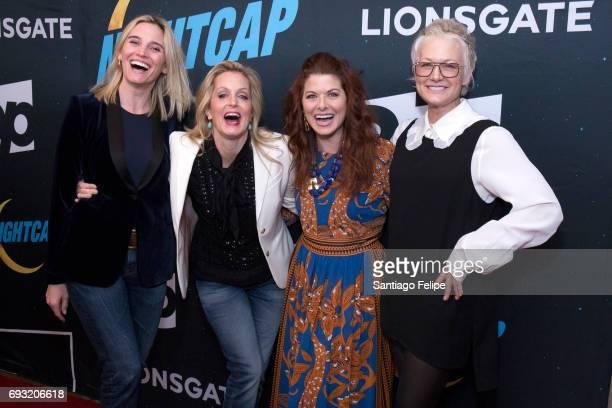 Isabel Gillies Ali Wentworth Debra Messing and Nancy Jarecki attend Nightcap Season 2 New York Premiere Party at Crosby Street Hotel on June 6 2017...