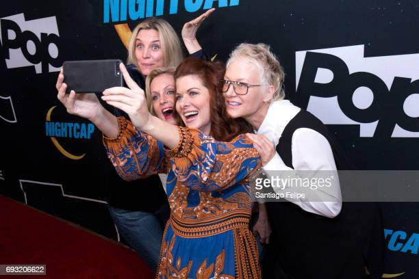 Isabel Gillies Ali Wentworth Debra Messing and Nancy Jarecki attend 'Nightcap' Season 2 New York Premiere Party at Crosby Street Hotel on June 6 2017...