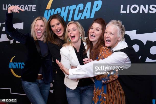 Isabel Gillies Mariska Hargitay Ali Wentworth Debra Messing and Nancy Jarecki attend Nightcap Season 2 New York Premiere Party at Crosby Street Hotel...