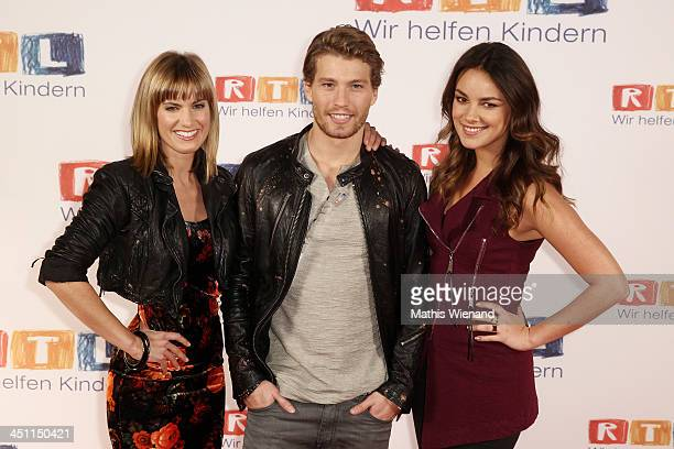 Isabel Horn Raul Richter and Janina Uhse attend the RTL Telethon 2013 on November 21 2013 in Cologne Germany