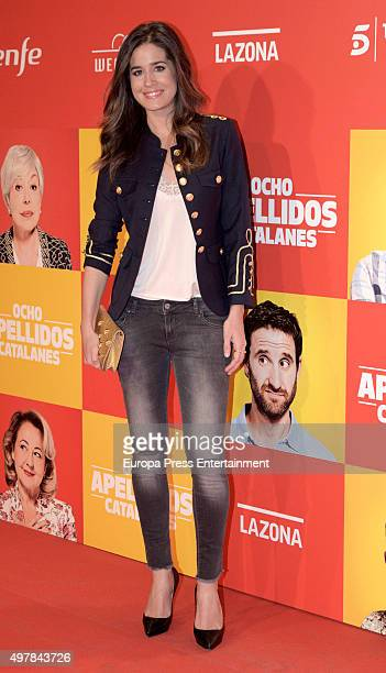 Isabel Jimenez attends 'Ocho Apellidos Catalanes' premiere at Capitol cinema on November 18 2015 in Madrid Spain