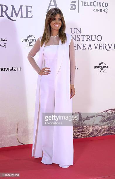 Isabel Jimenez attends the 'A Monster Calls' premiere at The Royal Theatre on September 26 2016 in Madrid Spain