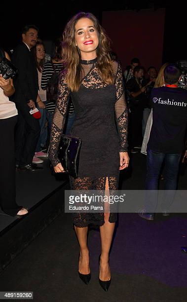 Isabel Jimenez is seen attending MercedesBenz Fashion Week Madrid Spring/Summer 2015/16 at Ifema on September 19 2015 in Madrid Spain