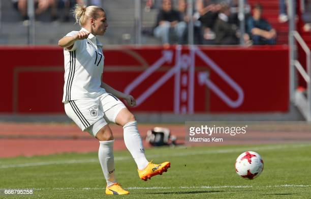 Isabel Kerschowski of Germany runs with the ball during the women's international friendly match between Germany and Canada at Steigerwald Stadion on...