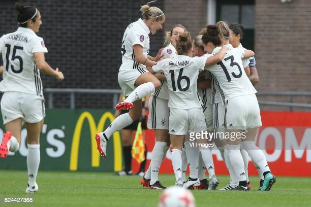 Isabel Kerschowski of Germany women Linda Dallmann of Germany women Sara Dabritz of Germany women during the UEFA WEURO 2017 quarter finale match...