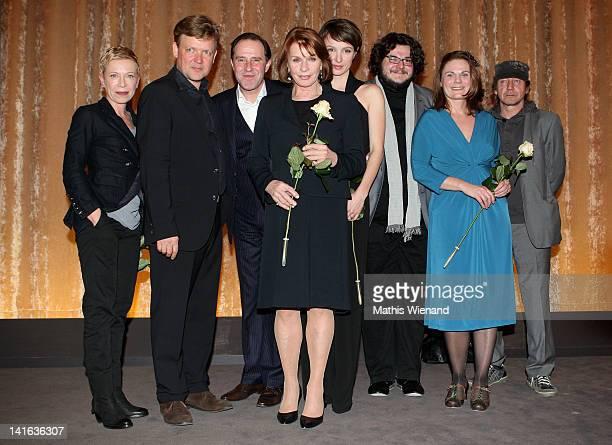 Isabel Kleefeld Justus von Dohnanyi Stefan Kurt Senta Berger Julia Koschitz Axel Ranisch Actor and Thorsten Merten attend the 'Ruhm' Germany Film...