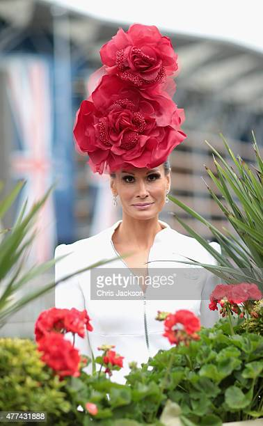 Isabel Kristensen arrives for day 2 of Royal Ascot at Ascot Racecourse on  June 16 2015 4efa91798115