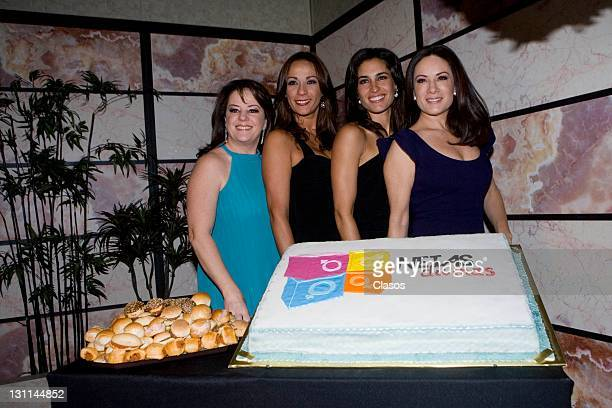Isabel Lascurain Consuelo Duval Luz Maria Zetina and Gloria Calzada during the 4to anniversary of the program Netas Divinas in Mexico City Mexico On...