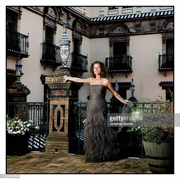 Isabel Leon Marquesa de Meritos is photographed for Vogue Espana on March 1517 2010 in Madrid Spain Published image