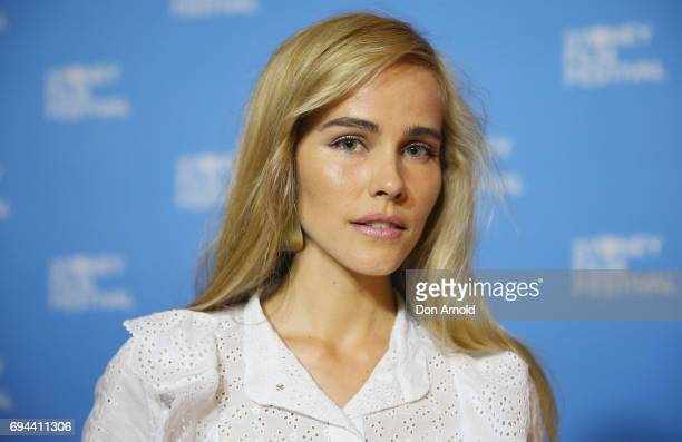 Isabel Lucas arrives ahead of the Australian premiere of 'That's Not Me' during the Sydney Film Festival at State Theatre on June 10 2017 in Sydney...