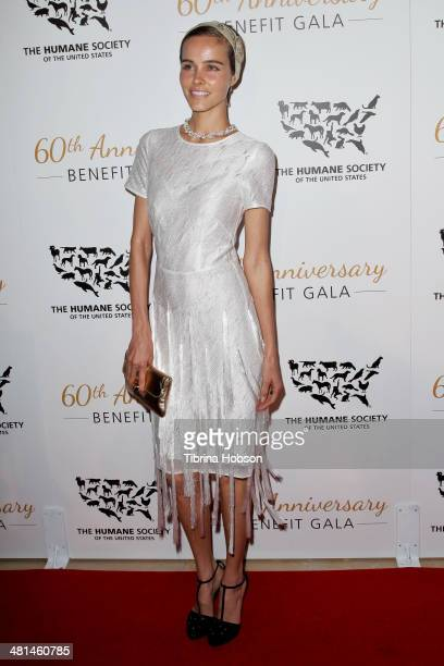 Isabel Lucas attends the Humane Society's 60th anniversary benefit gala at the Beverly Hilton Hotel on March 29 2014 in Beverly Hills California
