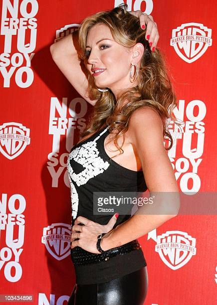 Isabel Madow attends at No Eres Tu Soy Yo movie premiere on August 17 2010 in Mexico City Mexico