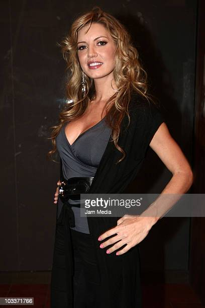 Isabel Madow attends the presentation number 100 of the musical Timbiriche at Aldama Theater on August 13 2010 in Mexico City Mexico